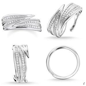 Thomas Sabo Silver Ring multicolored metal