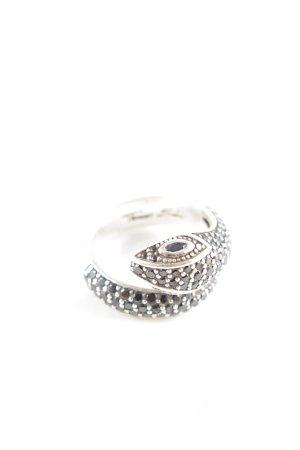 Thomas Sabo Silver Ring silver-colored-black elegant