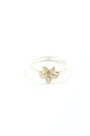 Thomas Sabo Zdobiony pierścionek srebrny-złoto W stylu casual
