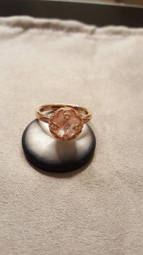 Thomas Sabo Srebrny pierścionek w kolorze różowego złota-różany Metal
