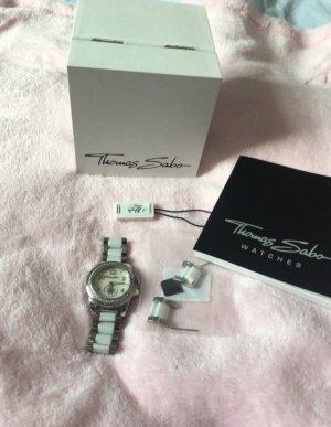 Thomas Sabo Reloj blanco-color plata