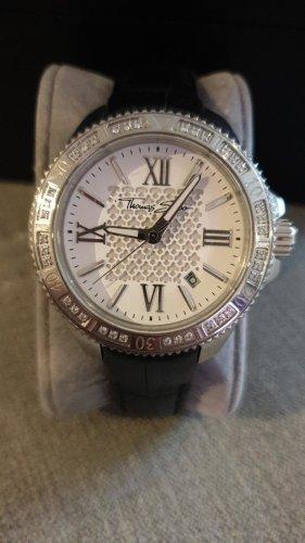 Thomas Sabo Horloge met lederen riempje zwart