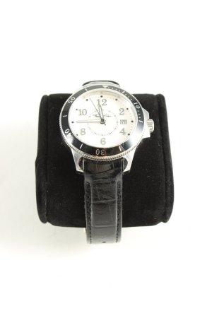 Thomas Sabo Montre avec bracelet en cuir noir motif animal style décontracté