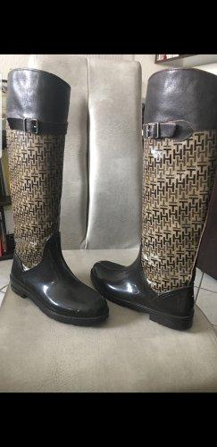 Hilfiger Botas de agua marrón oscuro Cuero