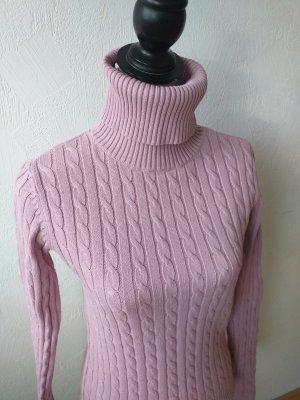 Tommy Hilfiger Jersey de cuello alto color rosa dorado-malva