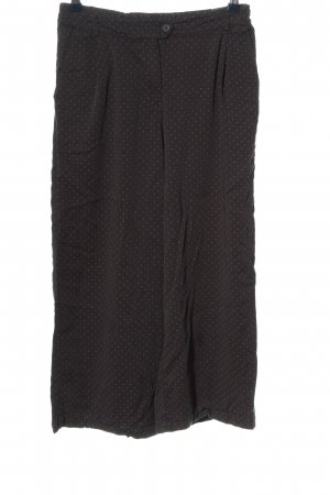 thought Falda pantalón de pernera ancha negro estampado a lunares look casual