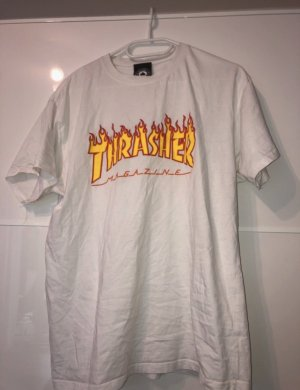 thrasher t-shirt in weiß