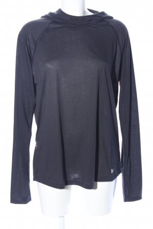 Threadborne Kapuzenpullover blau Motivdruck Casual-Look