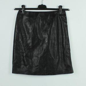 Falda de cuero negro Cuero
