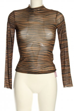 THRILLS Siateczkowa koszulka brązowy-czarny Abstrakcyjny wzór W stylu casual