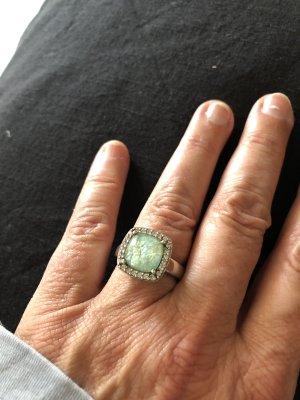 Ti Sento, Ring, Silber 925, grüner Stein, Zirkonia