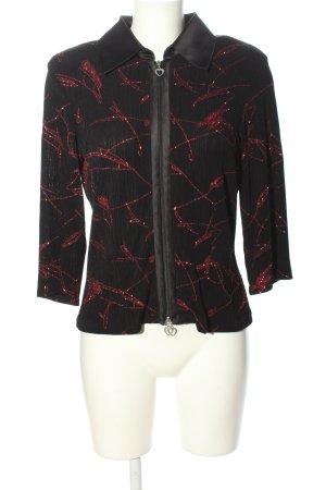 Tia Blusa Crash nero-rosso stampa integrale stile casual