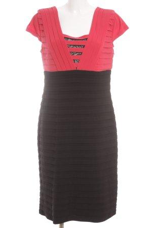 Tia Etuikleid rot-schwarz Elegant