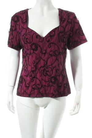Tia Netzshirt pink-schwarz Elegant