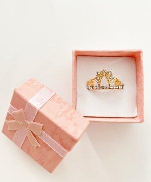 Tiara Kronenring Gold Diamanten Zirkonia