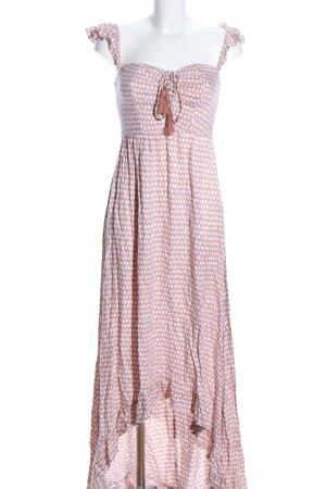 Tiare Hawaii Strandkleid nude-weiß Allover-Druck Casual-Look