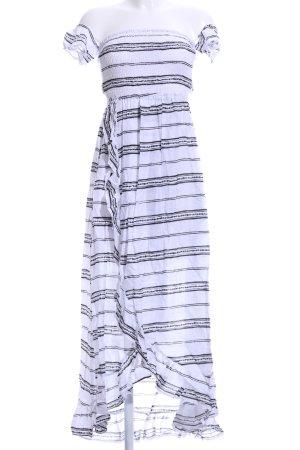Tiare Hawaii Vokuhila-Kleid weiß-schwarz Aztekenmuster Casual-Look