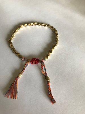 Handarbeit aus Tibet Pearl Bracelet gold-colored