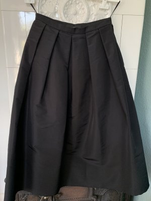 Tibi Black Silk Faille Full Skirt US 2 Tellerrock Rock aus Seide in Schwarz