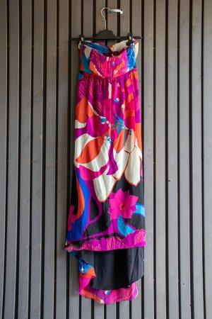Tibi NYC Bustier Dress multicolored silk
