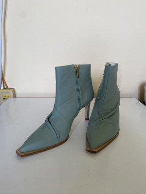 TIBI Cato Stiefel in Mintgrün aus weichem Lammleder