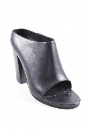 Tibi Cut Out Booties black simple style
