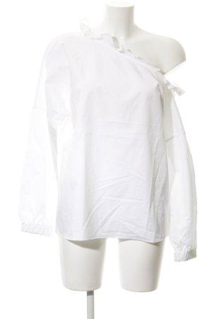 Tibi Langarm-Bluse weiß Casual-Look