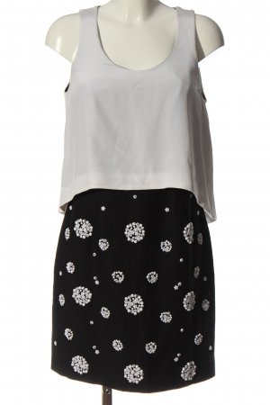 Tibi Blusenkleid schwarz-weiß Casual-Look