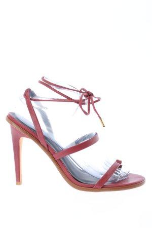 Tibi Riemchen-Sandaletten rot Casual-Look