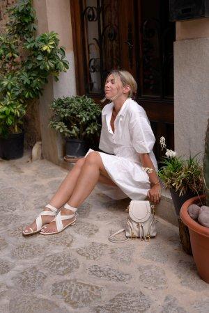 Tibi Zehentrenner-Sandalen wollweiß Casual-Look