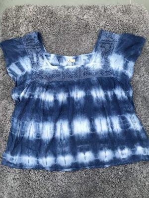 Tie Dye Batik Blusen T-Shirt von Hollister