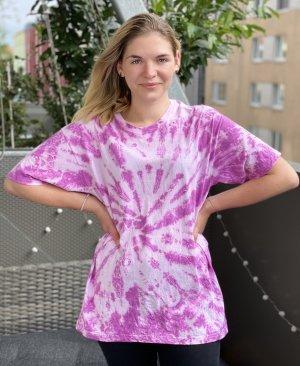 Tie Dye Batik Shirt Top Selfmade Unikat Violett Lila