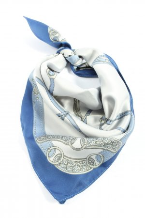 Tie Rack Neckerchief white-blue themed print casual look