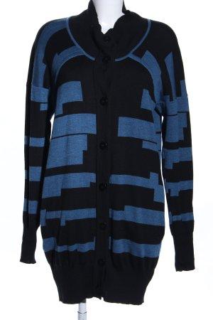 Tiedeken Cardigan schwarz-blau grafisches Muster Casual-Look