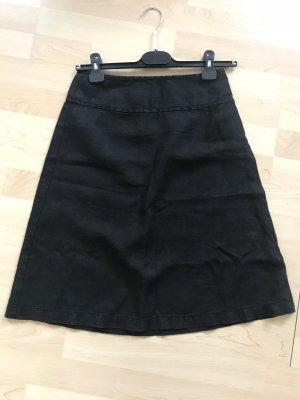 InWear Falda de lino negro