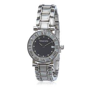 Tiffany&Co Reloj color plata acero inoxidable