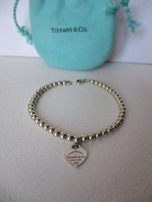 Tiffany&Co Armband, Armband mit Herzanhänger, Silber 925, Gebraucht.