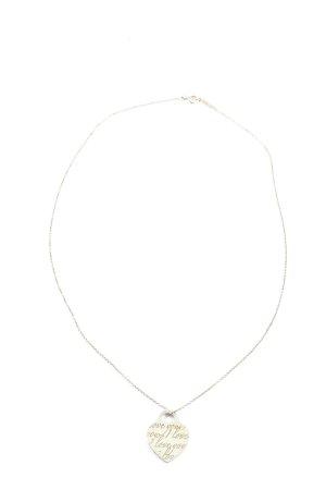 Tiffany&Co Collier goldfarben Schriftzug gedruckt Casual-Look