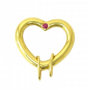 Tiffany & Co. Heart Ruby Pendant Top Necklace