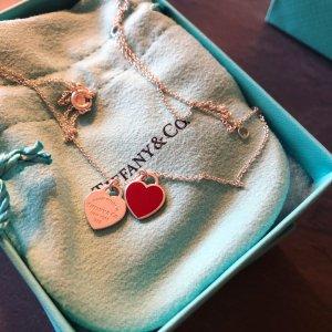 Tiffany&Co Collar color plata-rojo