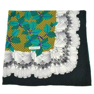 Tiffany&Co Gebreide sjaal groen Zijde