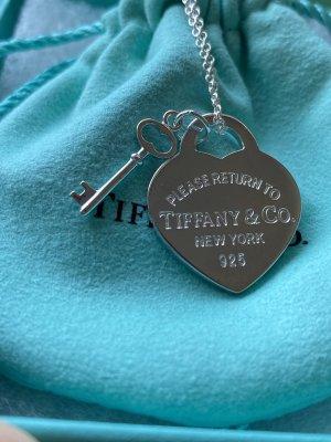 Tiffany & Co Schlüssel Herz Kette Silber