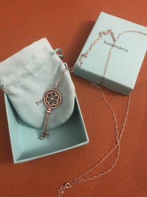 Tiffany&Co Silber Schlüssel mit Stein und langer Halskette