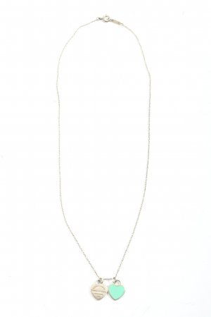 Tiffany&Co Silberkette silberfarben-türkis Casual-Look