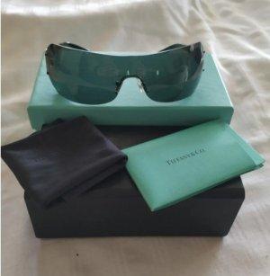 Tiffany&Co Gafas de sol ovaladas negro-marrón