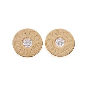 Tiffany&Co Pendientes colgante color oro