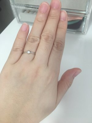 Tiffany&Co Gold Ring white-silver-colored
