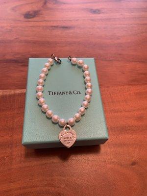 Tiffany&Co Bracelet en perles blanc-argenté
