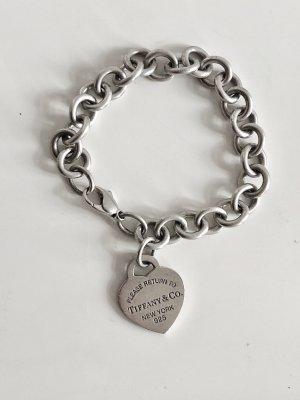 "Tiffany ""Return to Tiffany""  925 Silber Herz Charm-Armband Armband Armkette Herzanhänger Silberanhänger"