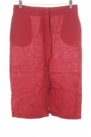 Tiffi Leinenrock dunkelrot-weiß 90ies-Stil